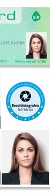 EU-Passfoto junge Frau  Blazer