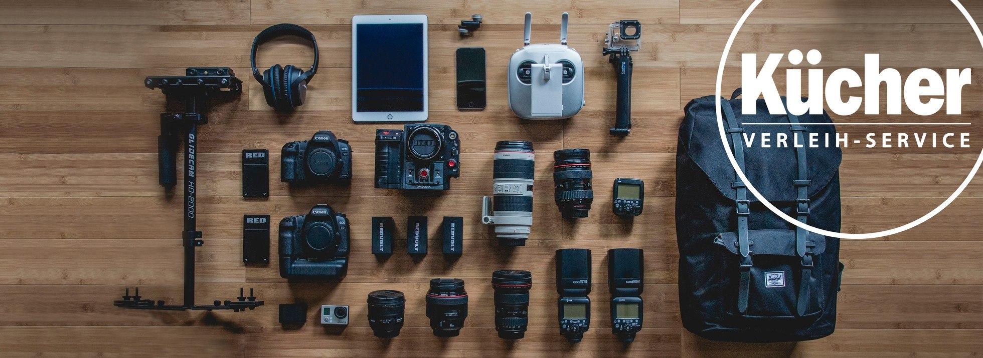 Verleih-Service für Kameras, Objektive & Zubehör  Foto Kücher