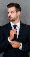 Bewerbungsfoto junger Mann  Anzug