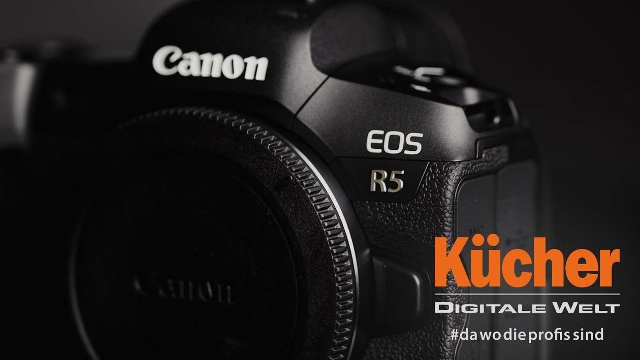 Wir präsentieren die neue Canon EOS R5 Premium Vollformat Systemkamera